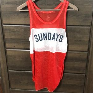 Sunday Casual Tank Red White & Blue American Top